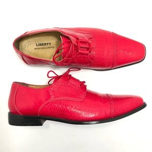 Liberty Men's Exclusive Red Oxford Dress Shoes